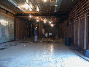 dphilms studio renovation - bar demo