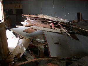 dphilms studio renovation - Demo pile